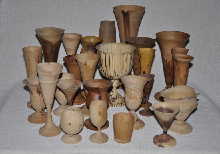 Bicchieri legni vari